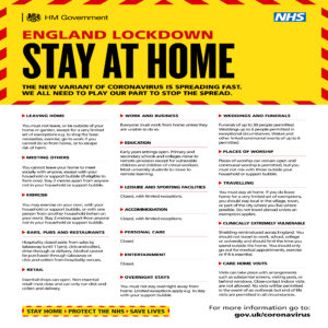 Lockdown Stay At Home Information